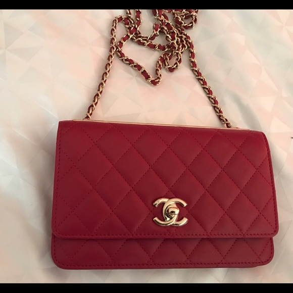c9d14ee1a489 Chanel Bags | Trendy Red Woc Wallet On Chain Bag New | Poshmark